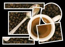 Collage di puzzle del caffè Fotografia Stock