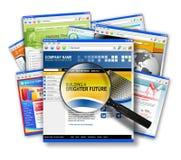 Collage di ricerca di Web site del Internet Fotografie Stock