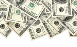 Collage di soldi isolato Fotografia Stock Libera da Diritti