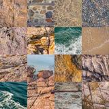 Collage di struttura del mare Immagini Stock