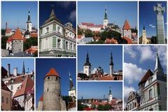 Collage di Tallinn immagine stock