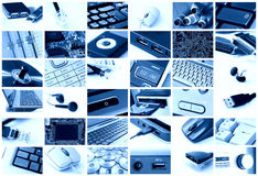 Collage di tecnologia Fotografie Stock Libere da Diritti