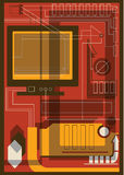 Collage di tecnologia dell'informazione Fotografia Stock