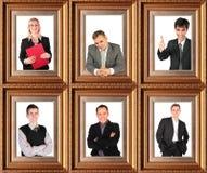 Collage di tema di affari Fotografie Stock