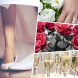 Collage di tempo di nozze sensazionale fotografie stock libere da diritti