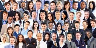 Collage di un gruppo di gente di affari Fotografie Stock Libere da Diritti