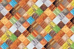 Collage di vari campioni di legno differenti di struttura Fotografie Stock