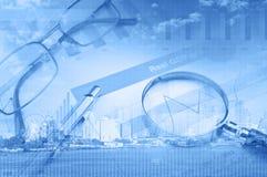 Collage di vari elementi di affari Immagine Stock