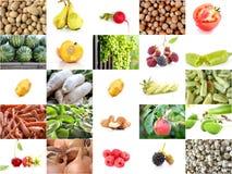 collage di varia frutta e delle verdure Immagini Stock