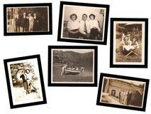 Collage di vecchie foto Fotografia Stock Libera da Diritti
