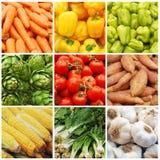 Collage di verdure Fotografia Stock