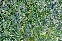 Collage di vetro verde Fotografie Stock