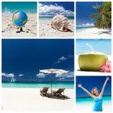 Collage di viaggio Fotografie Stock