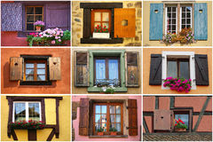 Collage di Windows Fotografia Stock Libera da Diritti