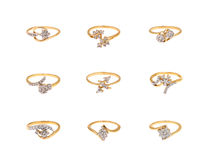 Collage of diamond rings Royalty Free Stock Image