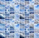 Collage die van vele luchtspruiten wordt gemaakt stock illustratie