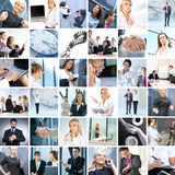Collage of different business images Royalty Free Stock Photos