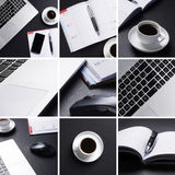 A collage of different business images Royalty Free Stock Image