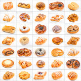 Collage of different cakes and sweets Stock Image