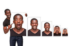 The collage of different emotions from an royalty free stock photography