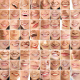 A collage of different female smiles