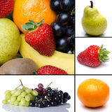 Collage of different fruits Royalty Free Stock Photography