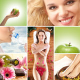 A collage of different healthcare images Stock Image