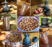 Collage with different images about coffee theme Royalty Free Stock Images