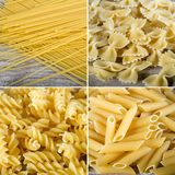 Collage of different macaroni Stock Photography