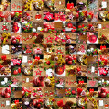 Collage of different photos of christmas decoration Royalty Free Stock Photography