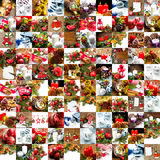 Collage of different photos of christmas decoration Stock Image