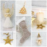 Collage of different photos for christmas - idea for decoration Stock Photography