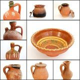 Collage of different Pottery Royalty Free Stock Image
