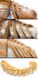 Collage of différent sliced breads Stock Photos