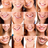 Collage of different smiles Royalty Free Stock Photos