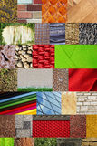Collage of different textures Stock Photos