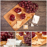 Collage of different type of meat products. Luxury and healthy lifestyle Stock Photo
