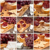 Collage of different type of meat products. Luxury lifestyle Stock Image