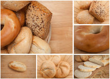 Collage of different types of bread Royalty Free Stock Photo
