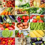 Collage of different vegetables. Vegetarian food. Selective focus. nature Royalty Free Stock Image