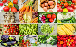 Collage of different vegetables. Vegetarian food. Royalty Free Stock Images