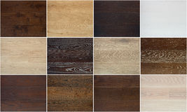 Collage of different wooden floor textures Royalty Free Stock Image