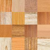Collage of different wooden texture Royalty Free Stock Images
