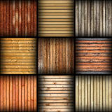 Collage of different wooden tiles Royalty Free Stock Photography