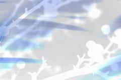 Collage digital de baies de l'hiver dans le bleu Images libres de droits