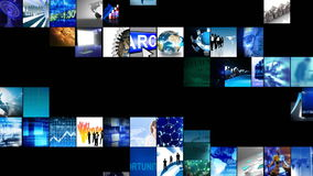 Collage of digital technology. Animation of collage of digital technology in high definition