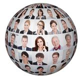 Collage of diverse business people stock photography
