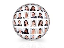 Collage of diverse business people Stock Image