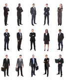 Collage of diverse businesspeople Royalty Free Stock Photo