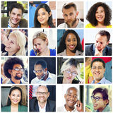 Collage Diverse Faces Group People Concept.  Royalty Free Stock Photo